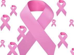 laços rosa contra o câncer